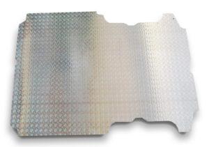 Pianale in alluminio mandorlato